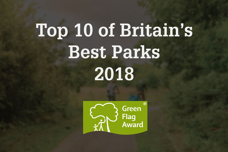 Picture of text promoting our best park award