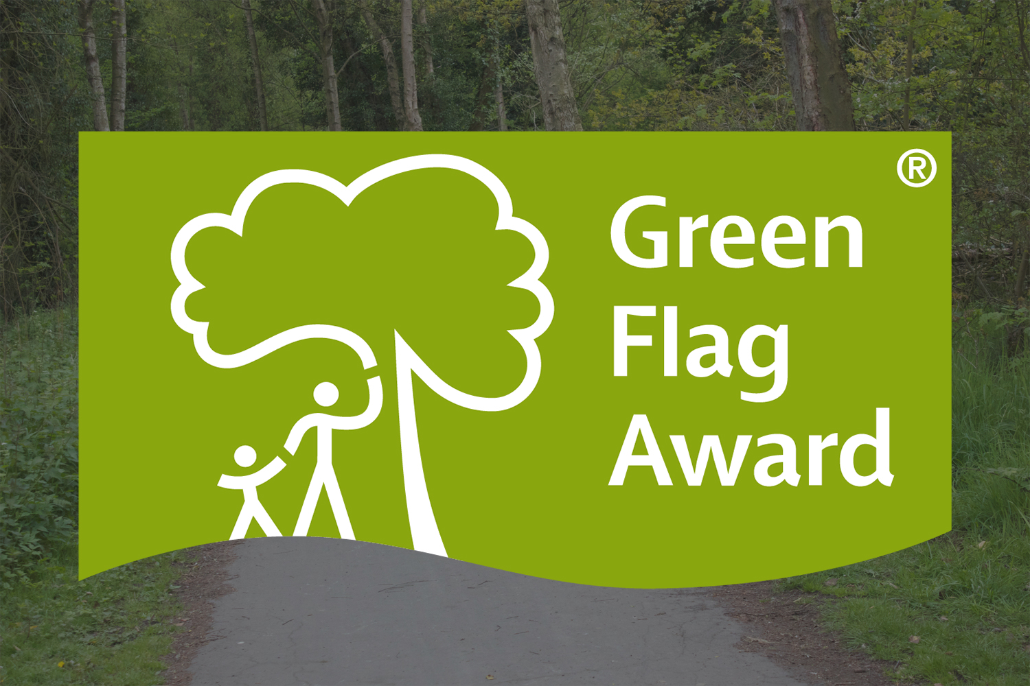 Image of the green flag ward logo