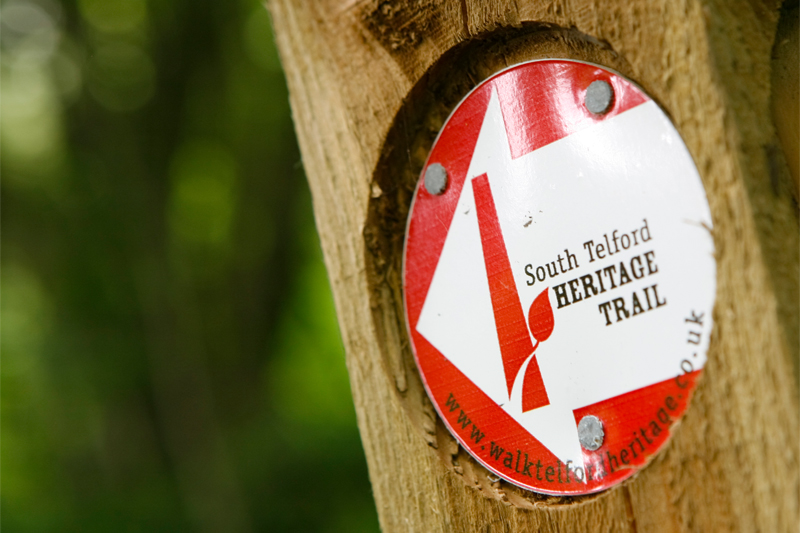 Image of the south telford heritage trail post