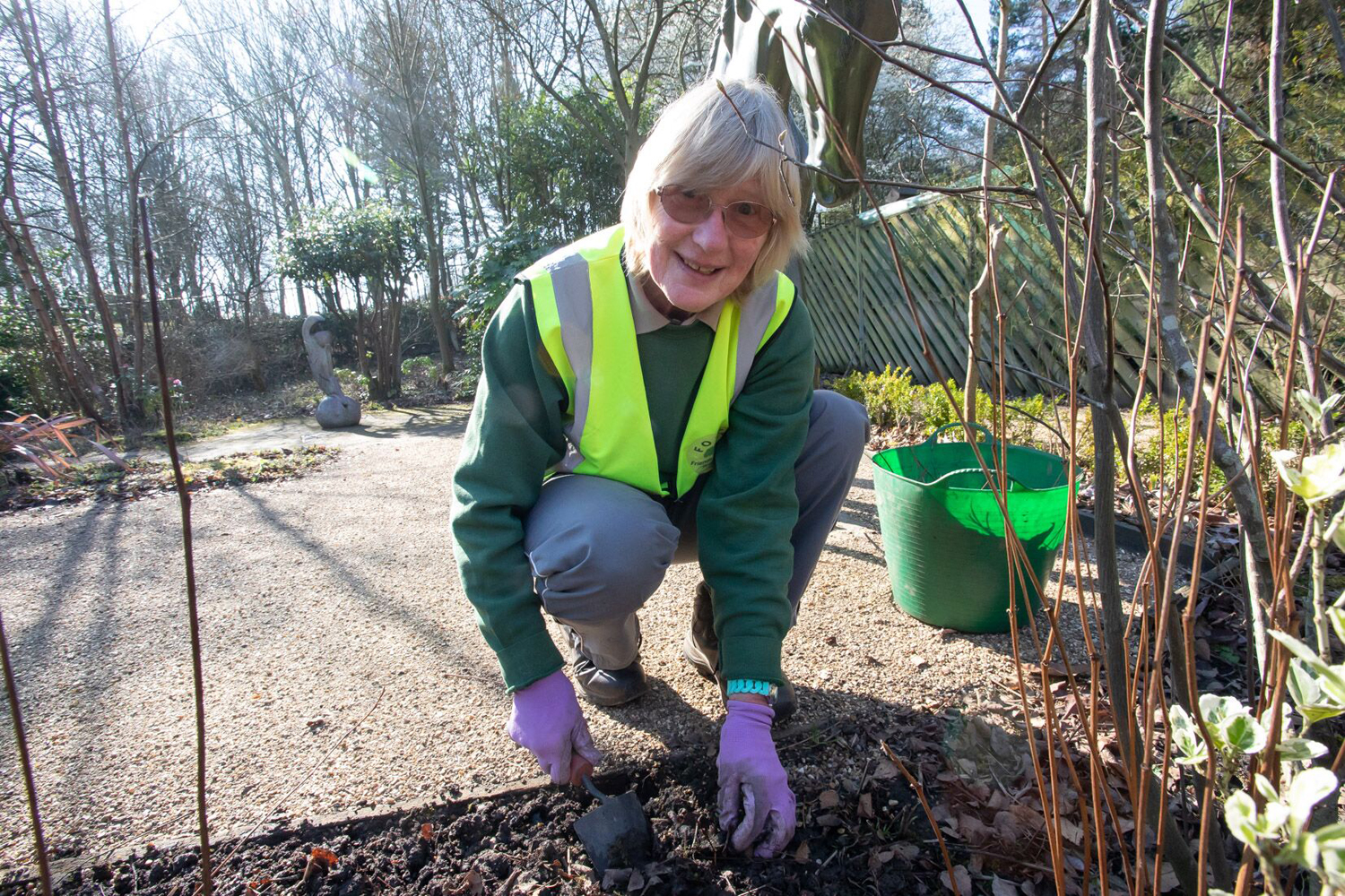 Picture of a women volunteering in Telford Town Park